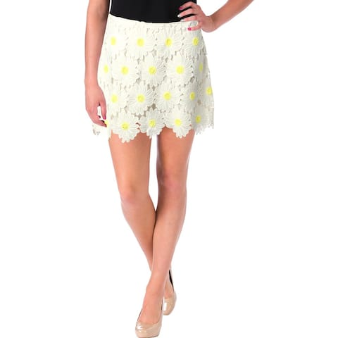 Aqua Womens Daisy Skort Lace Floral Embroidered