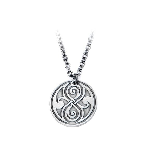 Dr. Who Seal of Rassilon Necklace - Silver