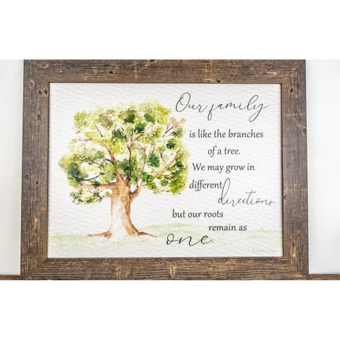 Our Family Is Like The Branches Of A Tree Roots Remain As One Framed Art Decor