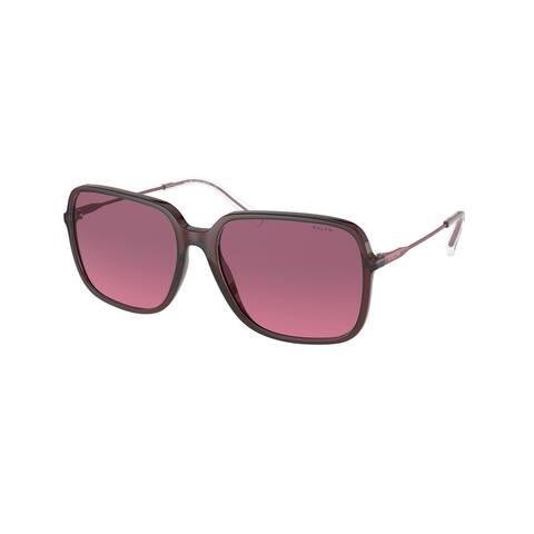 Ralph RA5272 591220 57 Shiny Opaline Burgundy Woman Square Sunglasses