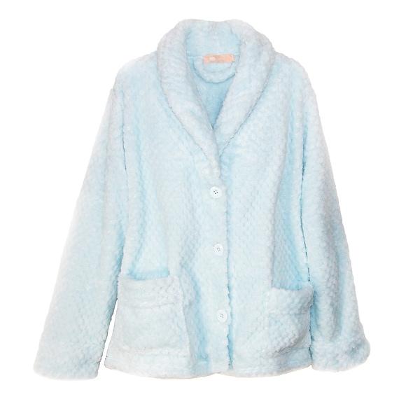 7b4919e91761d Shop La Cera Women s Button Front Bed Coat - Free Shipping Today ...