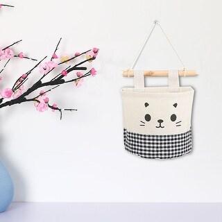 "Cotton Linen Door Foldable Hanging Storage Bag Decoration Organizer 5.9"" x 5.3"" - 5.9"" x 5.3"""