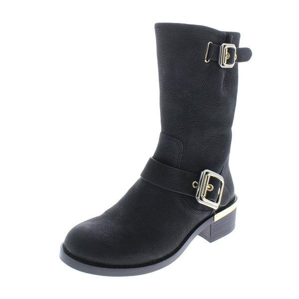 77009a52048 Shop Vince Camuto Womens Windy Mid-Calf Boots Buckle Moto - Free ...