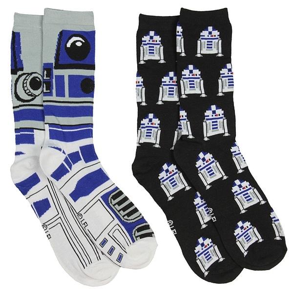 Star Wars R2-D2 Men's 2 Pack Casual Crew Socks
