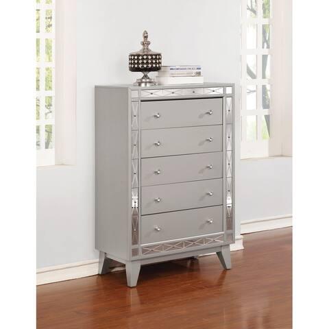 Harlow Metallic Mercury 5-drawer Chest