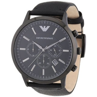Emporio Armani Men's Sportivo AR2461 Black Leather Analog Quartz Fashion Watch