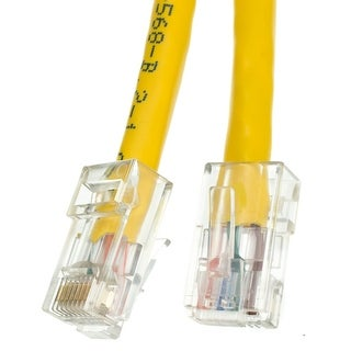Offex Cat5e Yellow Ethernet Patch Cable, Bootless, 14 foot