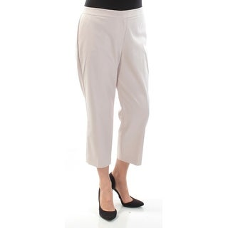 VINCE CAMUTO $79 Womens New 1492 Beige Flat Front Wear To Work Pants 14 B+B