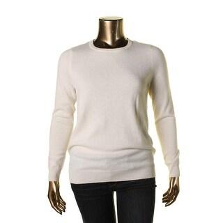 Private Label Womens Cashmere Crewneck Pullover Sweater