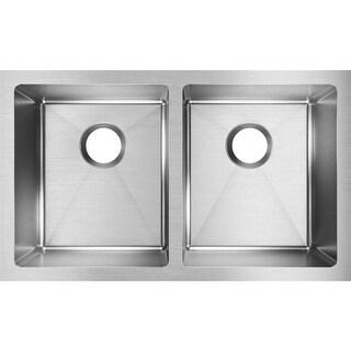 "Elkay EFRU311810T  Crosstown 30-3/4"" Undermount Dual Basin Stainless Steel Kitchen Sink with Sound Dampening - Stainless Steel"