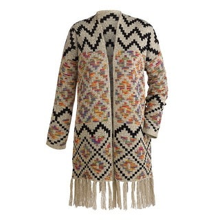 Women's Southwestern Open Front Cardigan Sweater Jacket