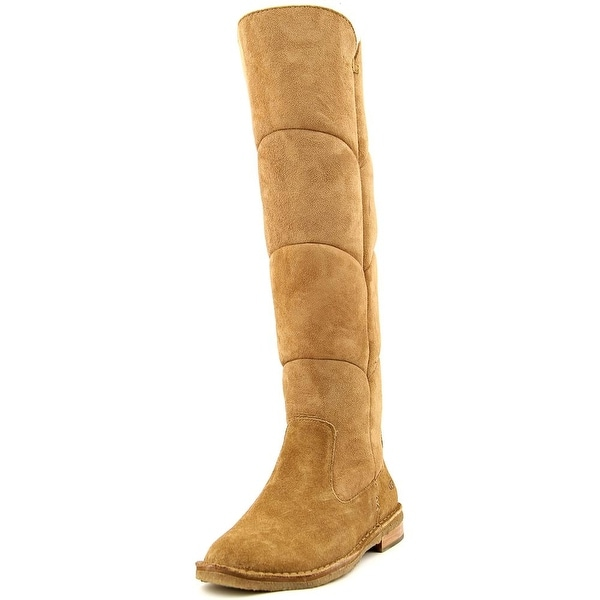 Ugg Australia Samantha Women Round Toe Suede Tan Knee High Boot