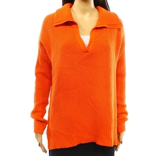 Lauren Ralph Lauren NEW Orange Women's Size Large L Collared Sweater