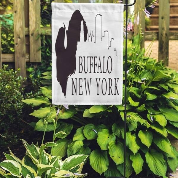 Shop Blue Silhouette Graphic Of Buffalo New York Skyline City Black Garden Flag Decorative Flag House Banner 12x18 Inch On Sale Overstock 31334968