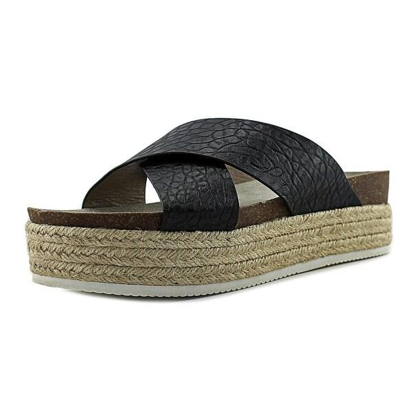 2f773034c87 Shop Steve Madden Hassie Women Open Toe Leather Black Platform ...