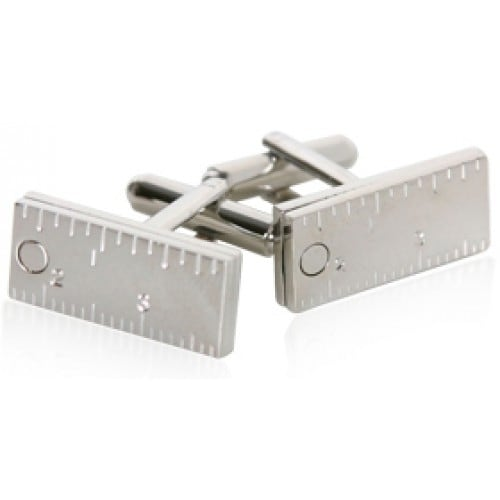 Ruler Measure Office Supplies Archetict Contractor Cufflinks