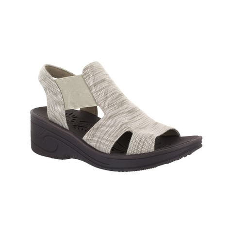 Easy Street Womens Bouncy Fabric Open Toe Casual Platform Sandals