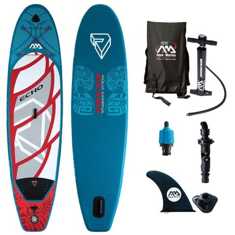 "Aqua Marina Echo Inflatable Stand-up Paddle Board & Acc. 10-6"" L x 32"" W x 4"" D"