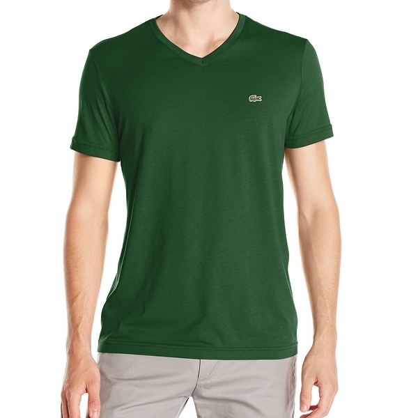 a90fc41f Lacoste NEW Green Forest Mens Size XL Short-Sleeve V-Neck Tee T-Shirt