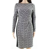 Lauren By Ralph Lauren Womens Contrast Sheath Dress