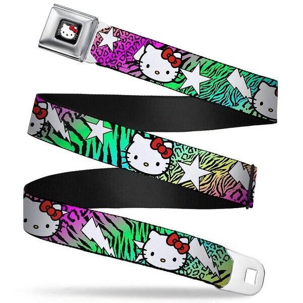 Hello Kitty W Red Bow Full Color Black Hello Kitty W Lightning & Stars Seatbelt Belt