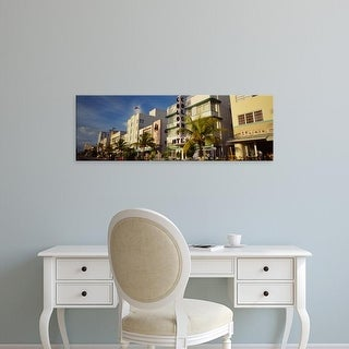 Easy Art Prints Panoramic Image 'Facade of a hotel, Art Deco Hotel, Ocean Drive, Miami Beach, Florida' Canvas Art