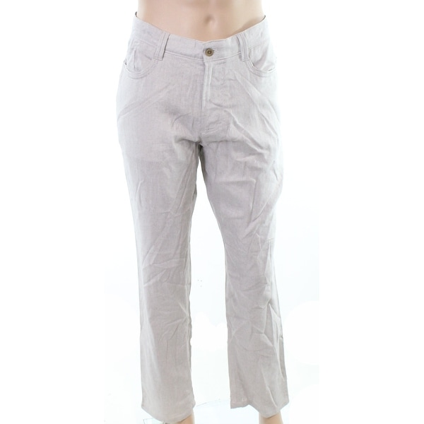 adf3dca8 Shop Cubavera Mens 36X32 Herringbone Textured Linen Pant - On Sale - Free  Shipping On Orders Over $45 - Overstock - 27051073