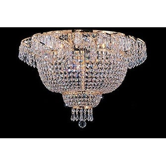 Swarovski Elements Crystal Trimmed Chandelier Flush French Empire Chandeliers Lighting