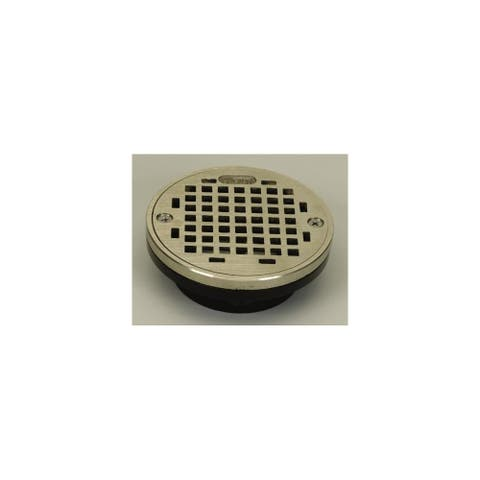 "PROFLO PF42873 3"" or 4"" PVC Shower Drain with 5"" Stainless Steel Strainer -"