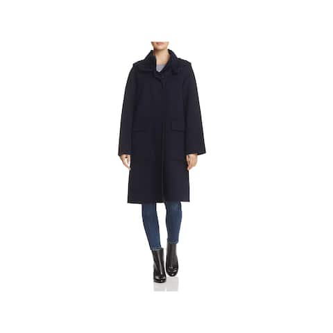 Theory Womens Duffle Coat Winter Wool Cashmere
