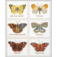 """14.5""""X18"""" 16 Count - Butterflies On Aida Counted Cross Stitch Kit"""