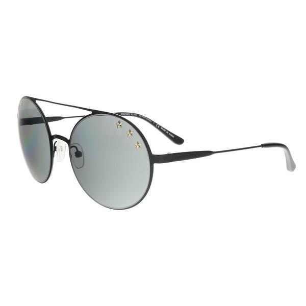 17c0d67a3082 Michael Kors MK1027 12026G CABO Black Aviator/Round Sunglasses - 55-19-135