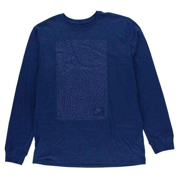 Elephant Xl Long Blue Print Mens Sleeve Shirt Jordan T hxQtdsCrB