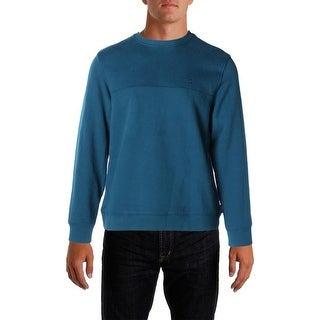 Izod Mens Fleece Pullover Sweatshirt, Crew