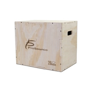 Link to ProsourceFit Wood Plyometric Jump Box for CrossFit and Plyo Workouts, 2 sizes - Sandy Tan Similar Items in Fitness & Exercise Equipment