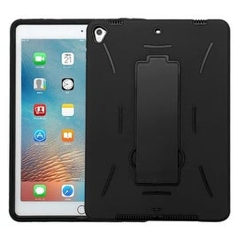 Insten Symbiosis Soft Silicone/ PC Dual Layer Hybrid Rubber Case Cover with Stand For Apple iPad Pro 9.7-inch