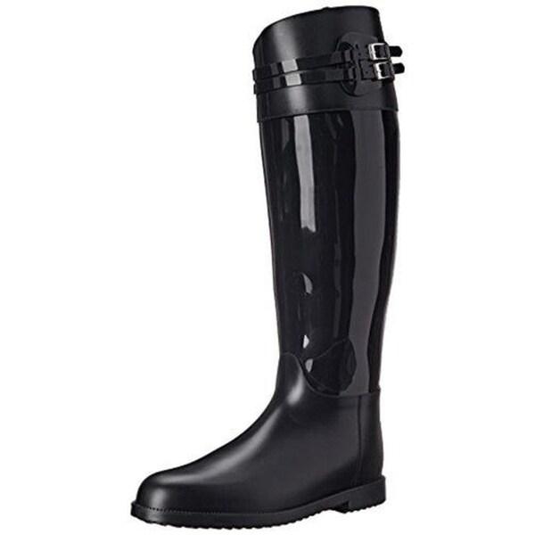SLOOSH Italy Womens Tall Rain Boots Rubber Knee-High