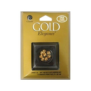 Cousin 14K Gold Plate Elegance Earring Nut 8Pc