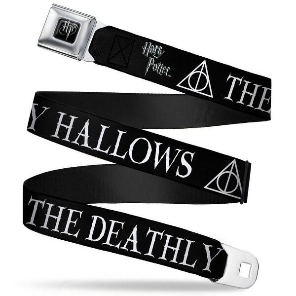 Harry Potter Logo Full Color Black White The Deathly Hallows Symbol Black Seatbelt Belt