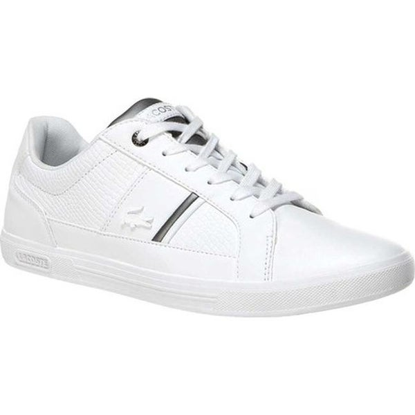 9aef88774 Shop Lacoste Men s Europa 1 Leather Sneaker White Leather Synthetic - Free  Shipping Today - Overstock - 27348757