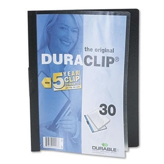 Durable Vinyl DuraClip Report Cover with Clip Letter Holds 30