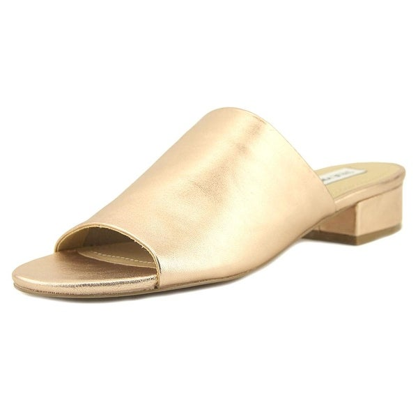 Steve Madden Briele Women Open Toe Leather Pink Slides Sandal