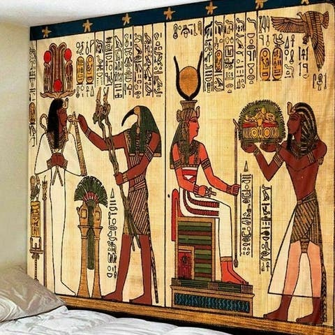 """Wall Tapestry Hanging Ancient Egypt - 59"""" x 51"""""""
