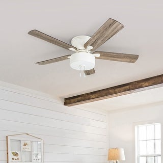 Link to The Gray Barn Rousham 52-inch Coastal Indoor LED Ceiling Fan with Pull Chains 5 Reversible Blades - 52 Similar Items in Ceiling Fans