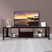 Costway TV Stand Media Console Cabinet Entertainment Center w/ Drawer and Display Shelf