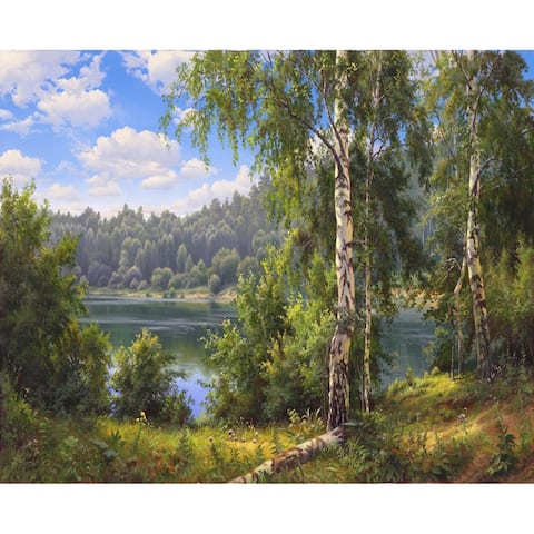 Forest Lake Paint-by-Number Kit for Kids & Adults