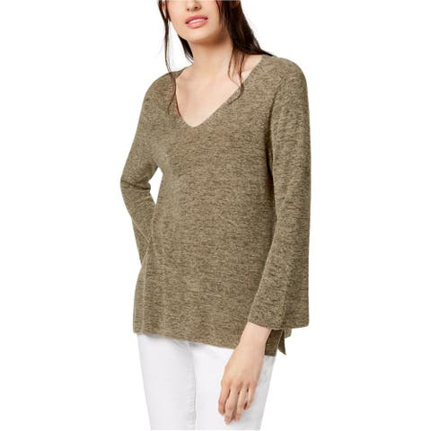 Eileen Fisher Womens Medley Pullover Sweater, Green, PS