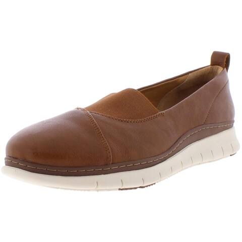 Vionic Womens Linden Casual Shoes Leather Slip On