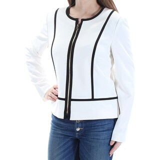 Womens Ivory Black Wear To Work Suit Jacket Size 6