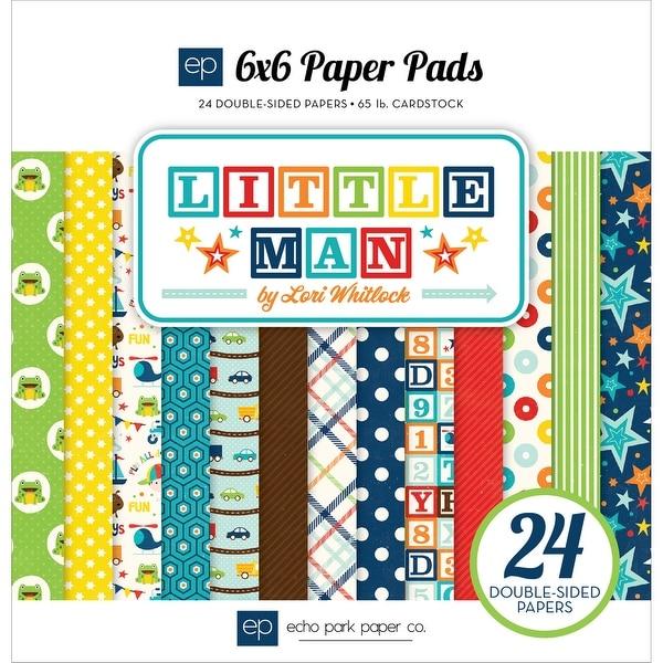 """Echo Park Double-Sided Paper Pad 6""""X6"""" 24/Pkg-Little Man"""